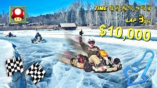 Download INSANE ICE KARTING FOR $10,000 W/ TEAM 10 Video