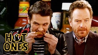 Download James Franco and Bryan Cranston Bond Over Spicy Wings | Hot Ones Video