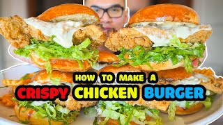 Download How to make a CRISPY CHICKEN BURGER Video