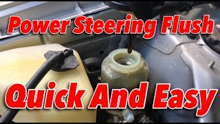 Download DIY POWER STEERING FLUSH IN 5 MINUTES!! Link to MightyVac in Discription Video