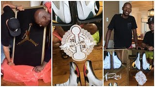 Download Jordan surprises Ray Allen with a trunk full of his best shoes from each team he was on Video