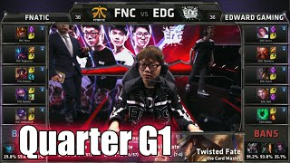 Download Fnatic vs Edward Gaming | Game 1 Quarter Finals LoL S5 World Championship 2015 | FNC vs EDG G1 Video