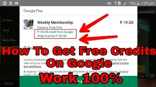 Download How To Get Free Google Play Credit Rs-140 And Rs-75 ||Most Watch Video