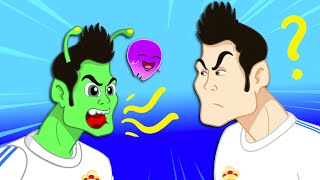 Download Groovy The Martian transform into CRISTIANO RONALDO to play SOCCER FULL EPISODES Cartoon for kids Video