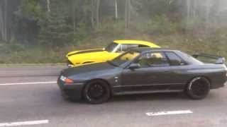 Download Pure street Racing Nissan GTR Skyline R32 650bhp vs Chevelle 550bhp Video
