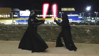 Download Darth Vader vs Kylo Ren Lightsaber Battle! Video