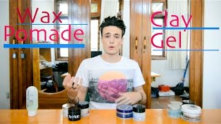 Download Hair Products - Wax, Pomade, Clay, Gel ~ What's the Difference? Video