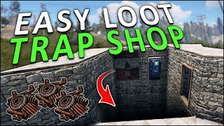 Download LURING PLAYERS into a FAKE FLOOR SCAM SHOP! - Rust Trap Base Video