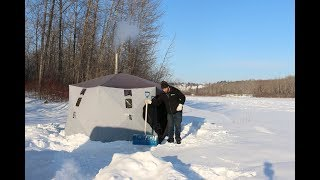 Download Polar Vortex Winter Camping in -32 Degrees With Wood Stove & Tent Video