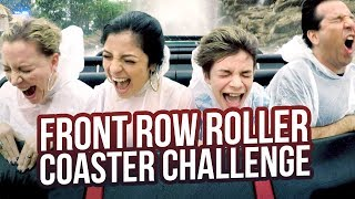 Download INSANE FRONT ROW ROLLER COASTER CHALLENGE!!! BABY ARIEL Video