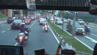 Download To the Football Game with a Police Escort in Kuala Lumpur Video
