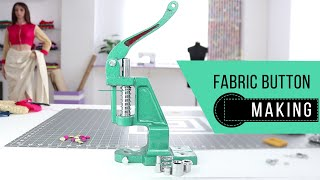 Download Class 27 - how to make beautiful Fabric Buttons / easy DIY Video