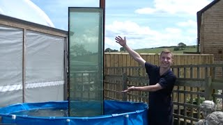 Download Huge inverted aquarium / Upside down fish tank (part 2) Video