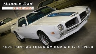 Download Muscle Car Of The Week Video #3: 1970 1/2 Pontiac Trans Am Ram Air IV Video