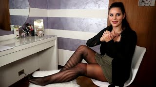 Download Serena prova i collant Calzitaly Pantyhose effetto parigine a righe 20 denari Video