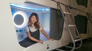 Download CUTEST CAPSULE HOTEL EXPERIENCE! Taiwan Travel Vlog Video