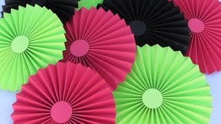 Download DIY Paper Crafts :: How to make simple Paper ROSETTES// SPRING FLOWERS - Innovative Arts Video