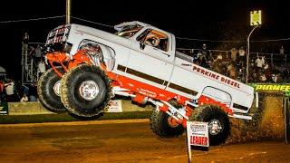 Download Wheel Standing Monster Trucks Pulling at Millers Tavern September 23 24 2016 Video
