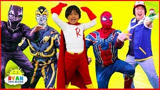 Download SuperHeroes Costumes Runway Show Ryan with Spiderman, Iron Man, Transformers and more!!! Video