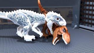Download LEGO Jurassic World 🔴 Indoraptor vs Indominus Rex -8 (Attack) Video