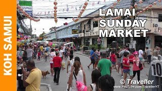 Download LAMAI BEACH NIGHT MARKET - Koh Samui travel videos Video