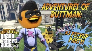 Download Adventures of Buttman #3: PICKUP PARTY! (Annoying Orange GTA V) Video