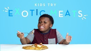 Download Kids Try Exotic Meats | Kids Try | HiHo Kids Video