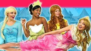 Download SLEEPING BEAUTY SAVED BY DISNEY PRINCESSES. (After Maleficent's Wedding) Totally TV Pretend Play Video