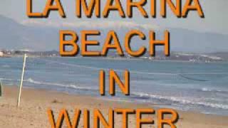 Download LA MARINA BEACH IN WINTER Video