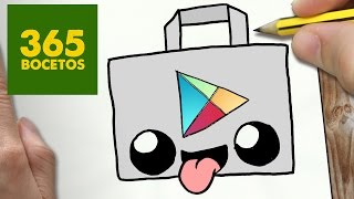Download COMO DIBUJAR LOGO PLAY STORE KAWAII PASO A PASO - Dibujos kawaii faciles - draw logo play store Video