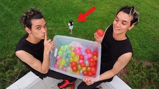 Download CRAZY WATER BALLOON PRANK ON LITTLE SISTER! Video