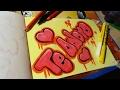 Download SPEED DRAWING  COMO HACER UN GRAFFITI TE ADORO   FER ART Video