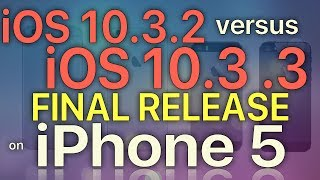 Download iPhone 5 : Speed Test iOS 10.3.2 vs iOS 10.3.3 Final (Build 14G60) Video