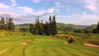 Download Aerial film of Gleneagles Championship Golf Courses Video