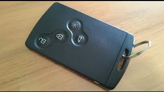 Download Renault keycard fob ignition key replace battery DIY / Autoschlüssel Batterie wechseln Video