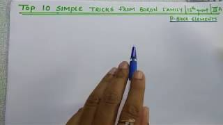 Download Top 10 Simple Tricks from Boron family | 13th Group | lllA group elements | P Block elements Video
