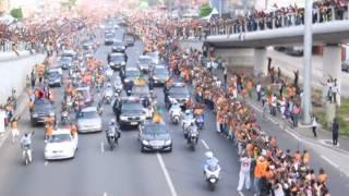 Download Le Passage des elephants champion d'Afrique 2015 sur le boulevard Video