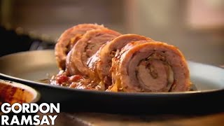 Download Slow Cooked Braised Stuffed Lamb Breast - Gordon Ramsay Video
