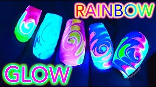 Download GLOW Rainbow Swirl Nail Art *untz untz* Video