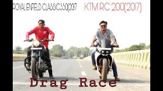 Download KTM RC 200(2017) Vs Royal Enfield classic350| Drag Race and exhaust note.||Ajay Motovlogs Video