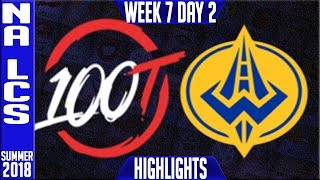 Download 100 vs GGS Highlights   NA LCS Summer 2018 Week 7 Day 2   100 Thieves vs Golden Guardians Video