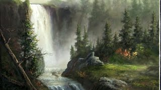 Download Landscape oil painting | Cascading Waterfall | Paint with Kevin Hill Video