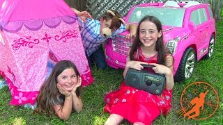 Download Little Princesses 9 - The Camping Trip Lessons, The Princess Tent and The Ride On Pink Princess Car Video