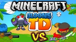 Download Minecraft BLOONS TD BATTLES #1 with Vikkstar (Minecraft Tower Defense) Video