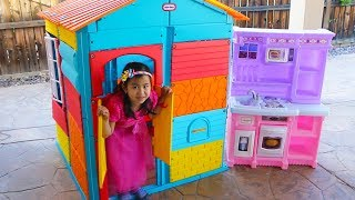 Download Jannie Pretend Play with COLORFUL Kids PlayHouse Toy Video