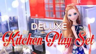 Download Unbox Daily: Deluxe Kitchen Play Set | Sweet Home & Living | Modern Kitchen | Doll Review - 4K Video