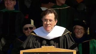 Download Stephen Colbert gives a funny farewell to Wake Forest University class of 2015 Video