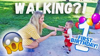Download HOW JAYDEN'S FIRST BIRTHDAY WAS AMAZING! ( HE TAKES HIS FIRST STEPS!) Video