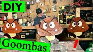 Download DIY Super Mario Wall Art! Life size Goomba made from wood. Video