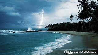 Download Rain, Thunder & Ocean Sounds | White Noise for Sleep or Studying | 10 Hours Video